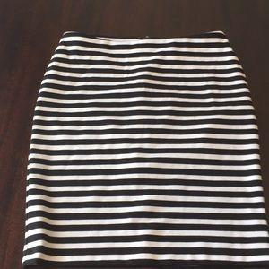 Black/white stripe skirt